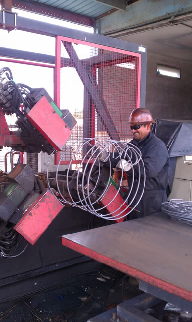 Preformed fusion welded rebar cage