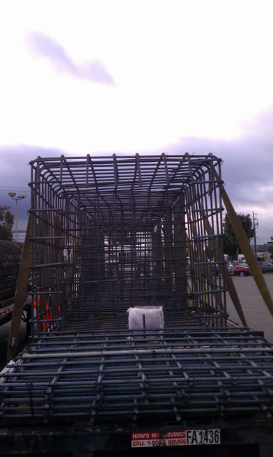 Slab rebar preassembled for easy installation