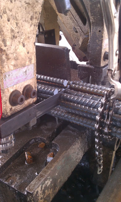 Saw cut rebar dowels