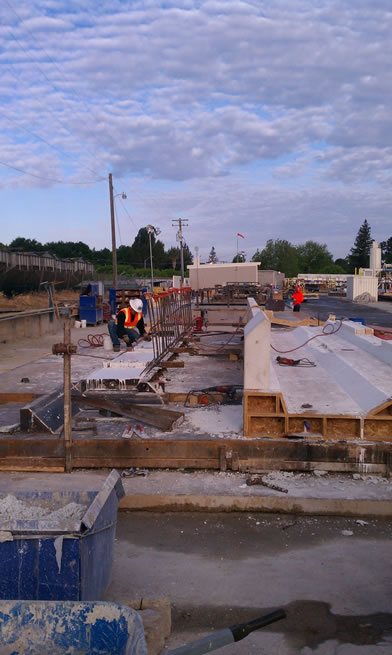 Clark Pacific rebar beams