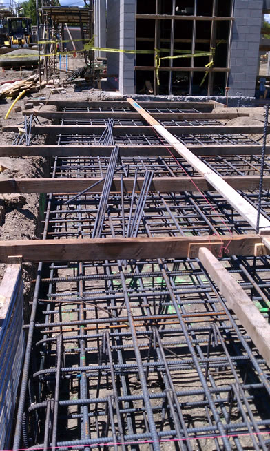 Lawrence Station beams with rebar ties