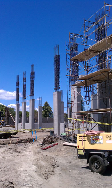 Lawrence Station Reinforcing Columns